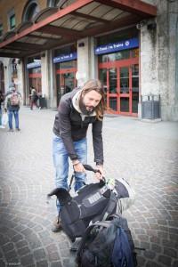 ©Andrea Pasquali, 2017, Piacenza - Claudio Pellizzeni torna a casa dopo il giro del mondo senza aerei in 1000 giorni